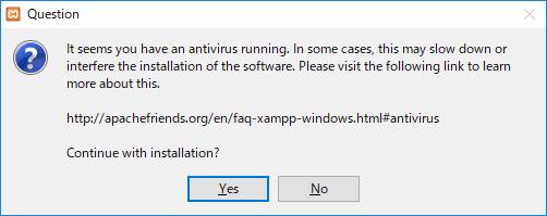 XAMPP-インストール時の注意事項